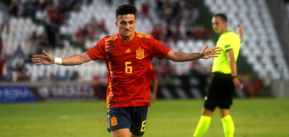 Así vivió el jugador del Sporting, Manu García, su debut con la selección española sub 21
