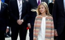 La Princesa Leonor, sonriente y muy cercana con los asturianos
