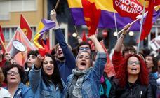 Manifestación republicana coincidiendo con la entrega de los Premios Princesa de Asturias