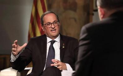 Torra descarta elecciones y niega la crisis con ERC: «Estamos muy a gusto»