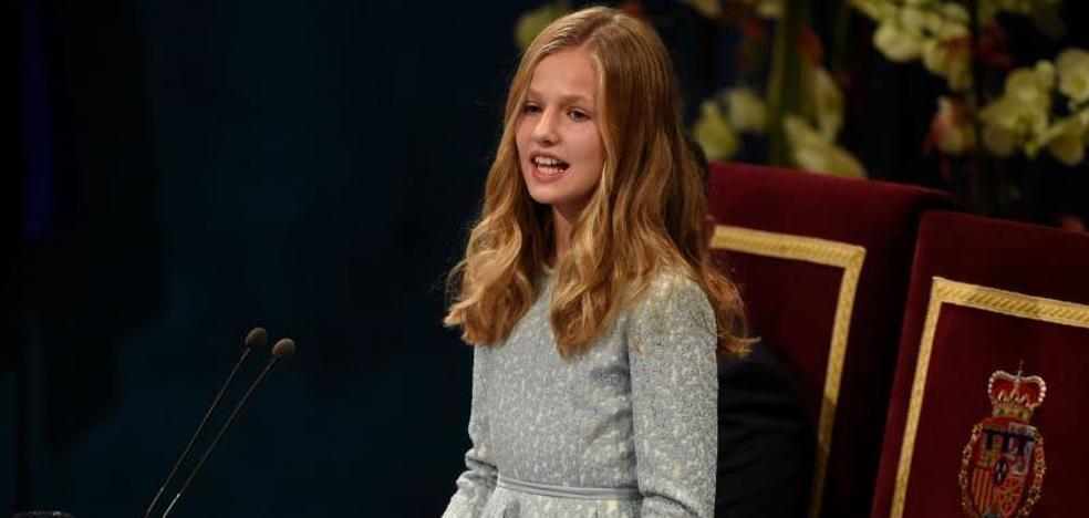 Así ha sido el primer discurso de la Princesa de Asturias