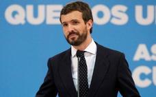 Casado urge al Gobierno a que aplique la Ley de Seguridad Nacional en Cataluña