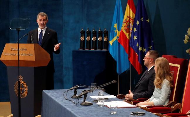 Premios Princesa   Felipe VI pasa el testigo a Leonor con un discurso sobre su papel como heredera