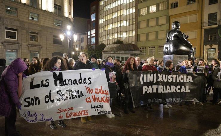 Grito feminista en Asturias contra la 'manada' de Manresa