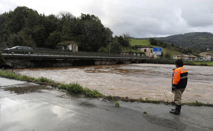 Preocupación por el aumento del caudal de los ríos en Asturias