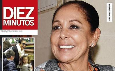 Isabel Pantoja recupera la sonrisa con sus nietos