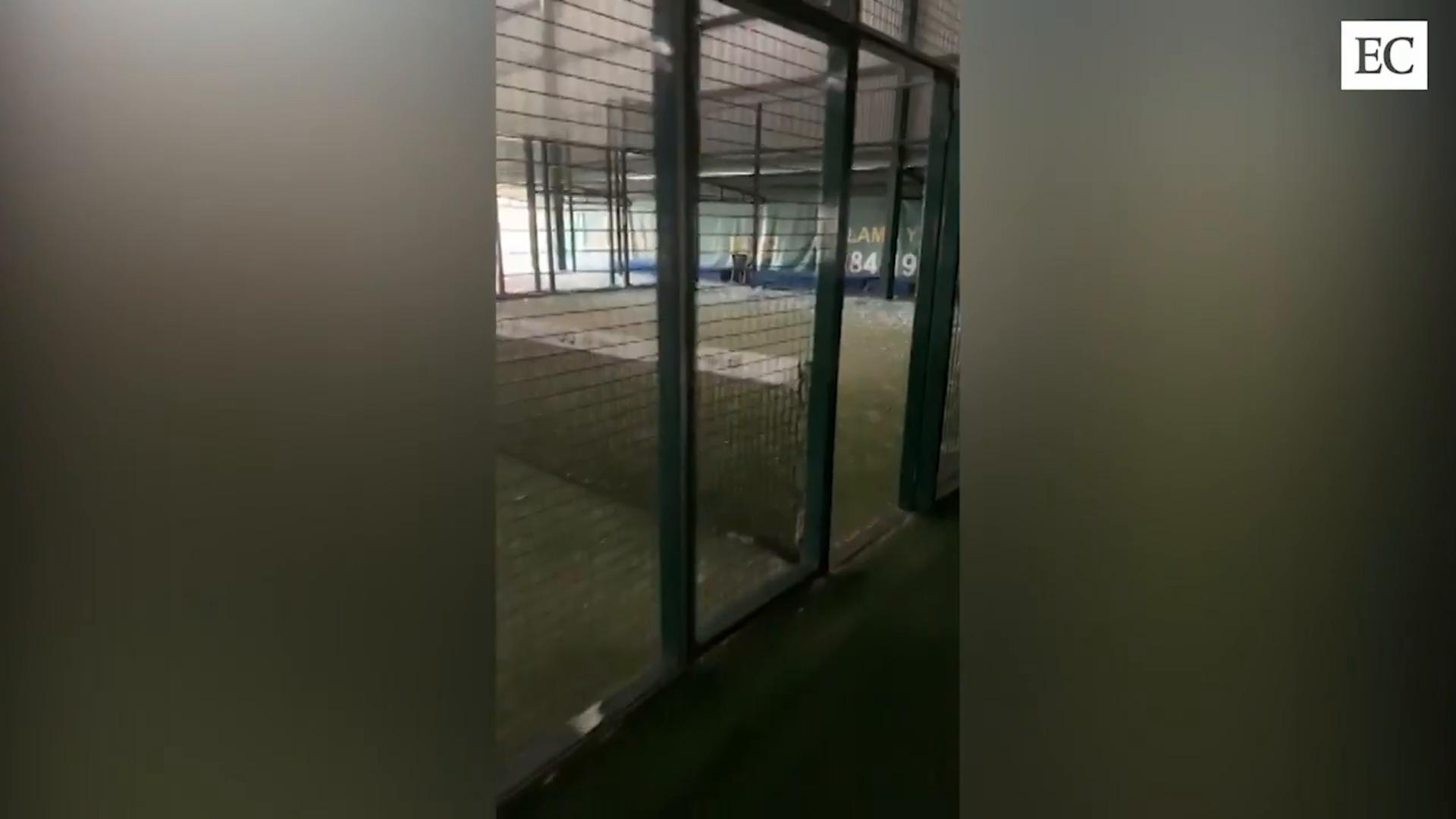Graves destrozos en las instalaciones deportivas que gestionó Soccer World