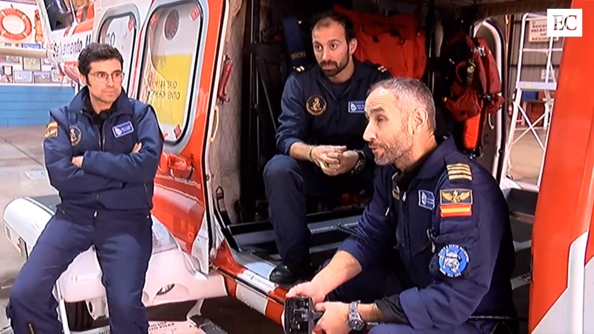 Antonio Piñeiro, rescatador del Helimer:«Pensé que había pasado algo gordo cuando vi toda la estructura tirada en el suelo»