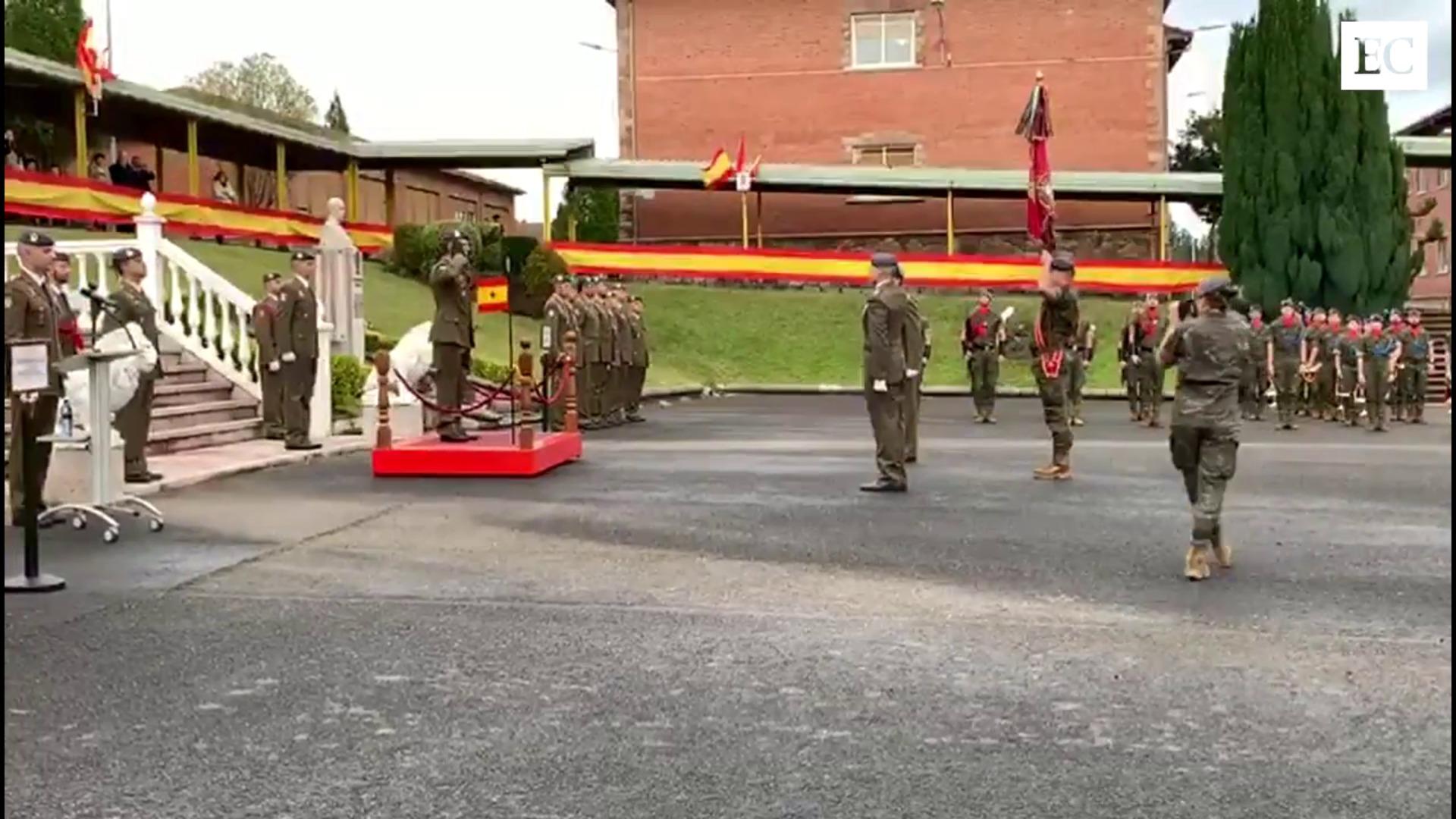 El Coronel Alfonso Pardo asume la  jefatura del acuartelamiento Cabo Noval
