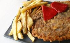 Cachopo de ternera relleno de jamón ibérico, queso Cabrales y foie
