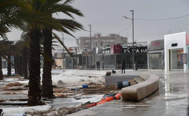 'Gloria' deja el litoral mediterráneo devastado