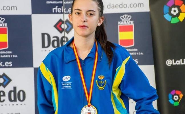 Ana Aroca, única asturiana medallista en el nacional sub 21