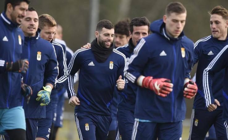 Entrenamiento del Real Oviedo (24/01/2020)
