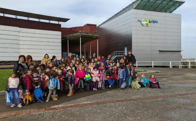 Los alumnos de Cabranes visitan el Acuario