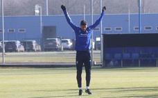 Entrenamiento del Real Oviedo (15/01/2021)