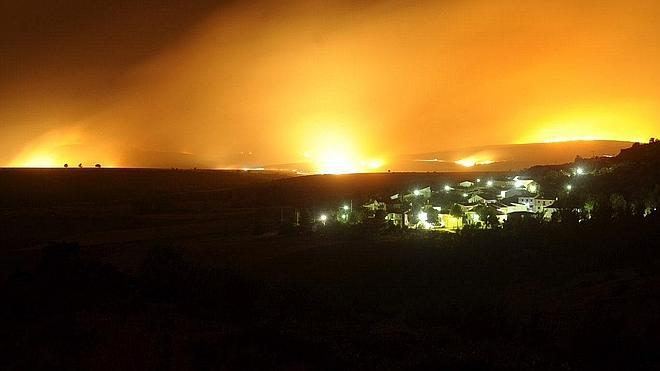 La Sierra de Guadalajara, devorada por el fuego
