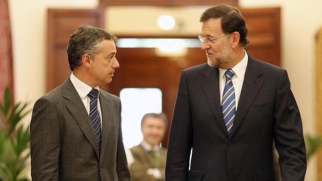 Rajoy y Urkullu se reunieron ayer en Moncloa para hablar de autogobierno