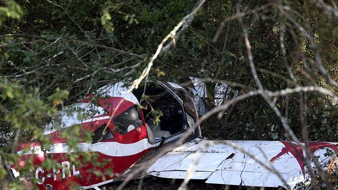 Cuatro heridos tras el aterrizaje forzoso de una avioneta en Pontevedra
