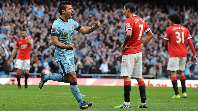 El City gana al United en el derbi de Manchester con un gol de Agüero