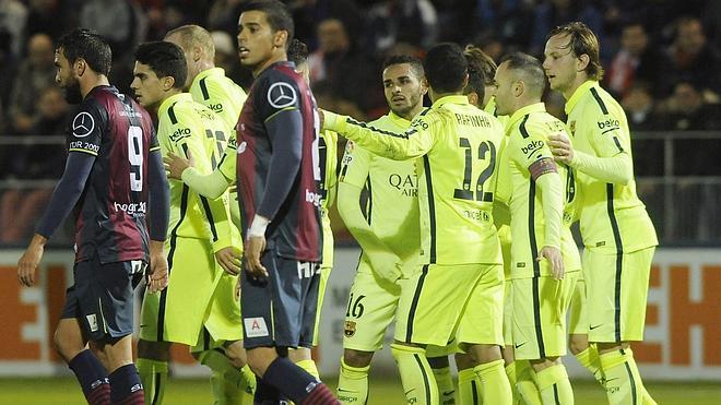 El Barça resuelve a cañonazos