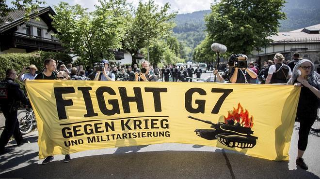 Unas 4.000 personas se manifiestan en Baviera contra el G7