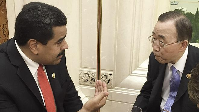 Maduro se reúne con Ban Ki-moon en plena crisis fronteriza con Colombia