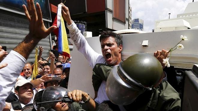 El opositor venezolano Leopoldo López, condenado a 13 años y 9 meses de cárcel