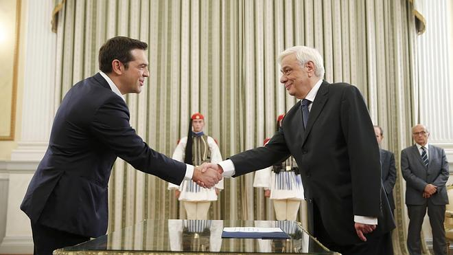 Tsipras jura por segunda vez en ocho meses como primer ministro