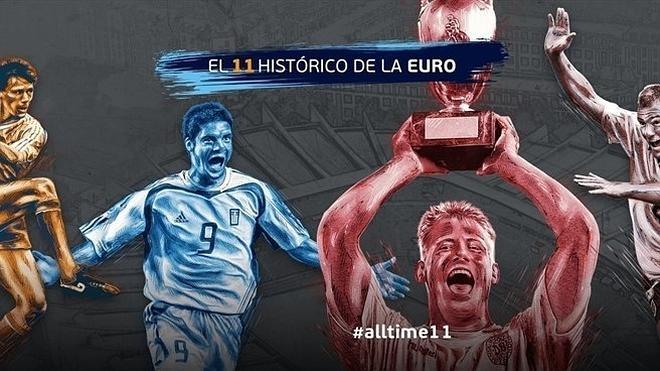La Uefa da la posibilidad de eligir el 'once' histórico de la Eurocopa