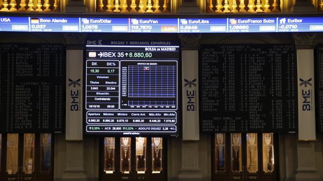 El Ibex suma un 0,96% y se queda a las puertas de los 9.000 puntos en vísperas del BCE