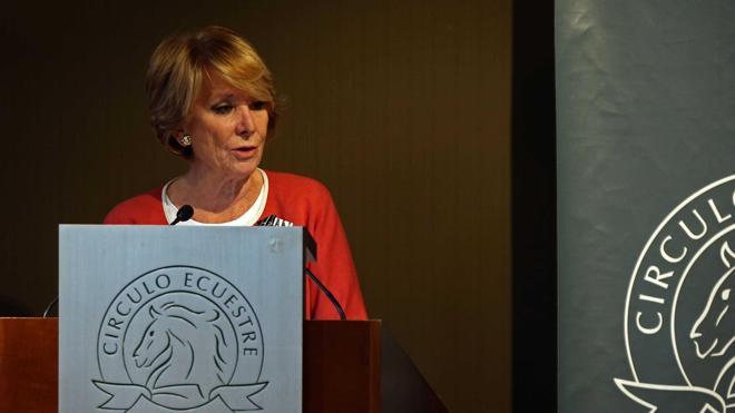 Esperanza Aguirre apuesta por la unión de PP y C's en un solo partido de centroderecha