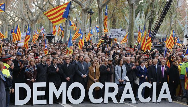 Forcadell: «La democracia está en juego»