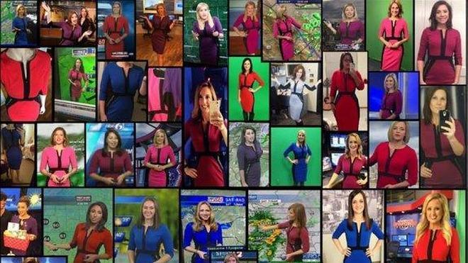El vestido fetiche de las presentadoras del tiempo