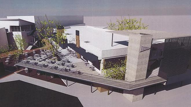 La nueva terraza del Grupo Covadonga estará lista antes del próximo verano