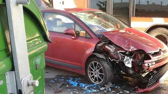 Accidente de tráfico sin consecuencias en Nuevo Roces
