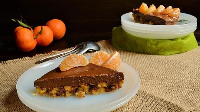 Tarta de chocolate, naranja y mandarina de Noe