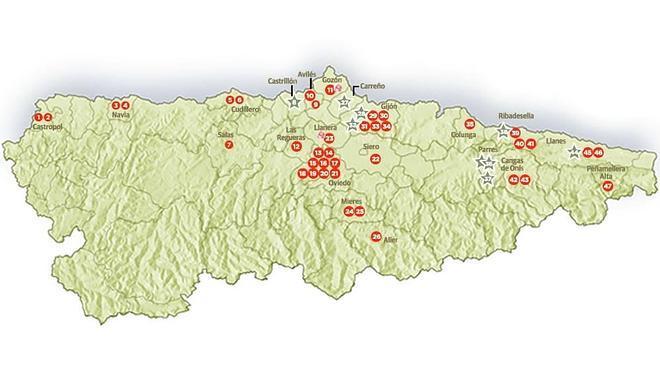 Los 47 Michelin de Asturias