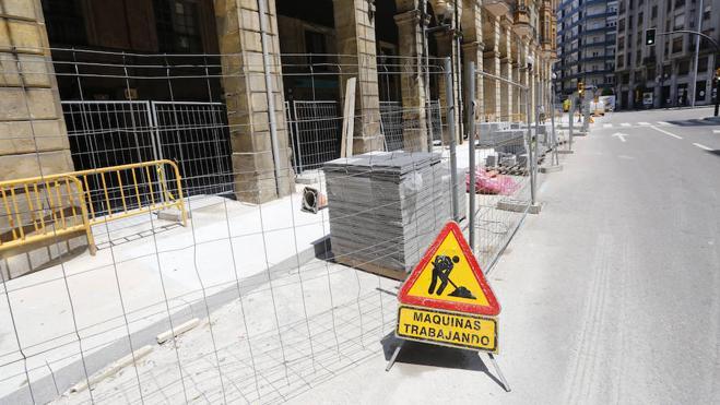 El centro urbano quedará libre de obras para finales de junio, antes de San Pedro