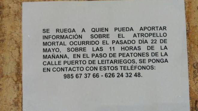 La familia de la mujer fallecida en Gijón tras ser atropellada busca testigos